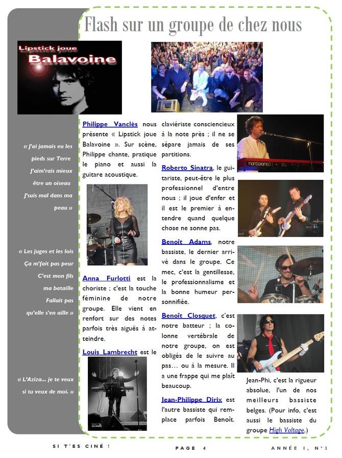 Lipstick joue Balavoine à Houx le dimanche 19 août à 20 h