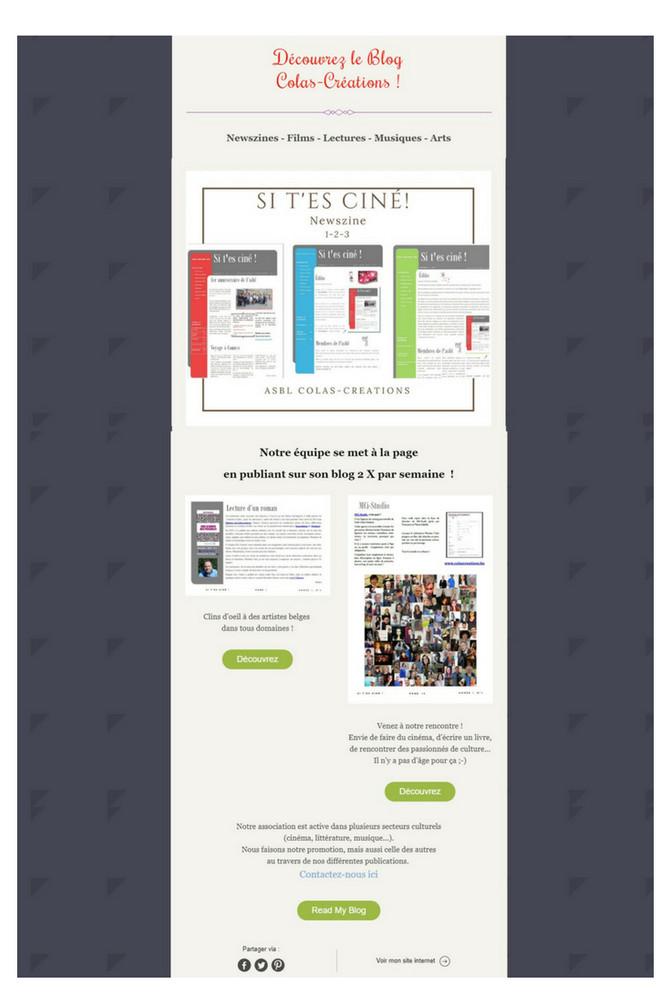 Infos sur les publications de Notre Blog !