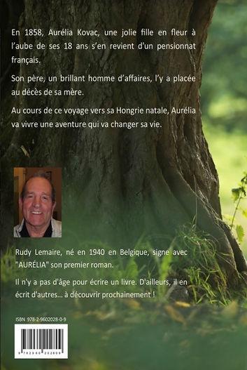 Cover back - Aurélia - Auteur Rudy Lemai