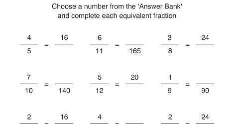 Fractions (Equivalent)