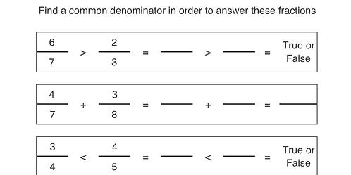 Fractions (Common Denominator)