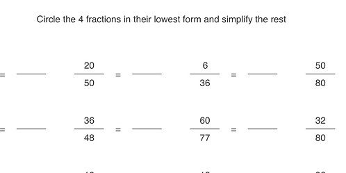 Fractions (Simplifying)