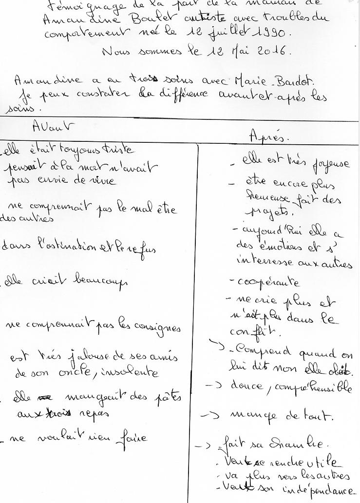 Témoignage : une jeune autiste soignée par Marie Bardot