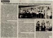 Grisolles : un brillant concert de chorales pour l'association Diamant