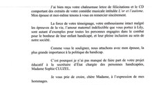 La lettre du Président Emmanuel Macron à Marie Bardot et l'association Diamant