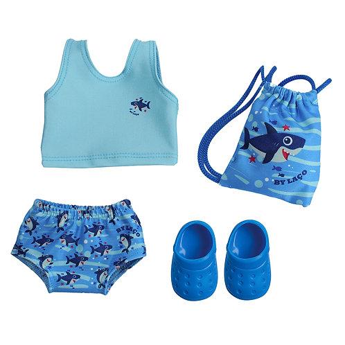 Kit Praia Shark Boy