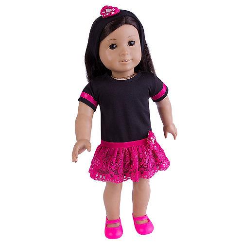Kit Teens Renda Pink