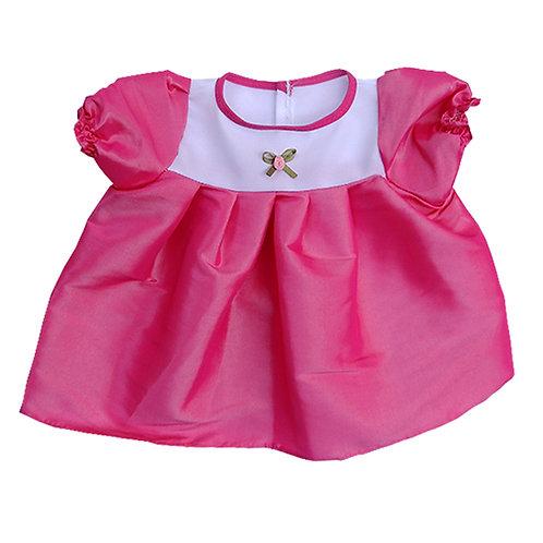 Vestido Tafeta Rosa