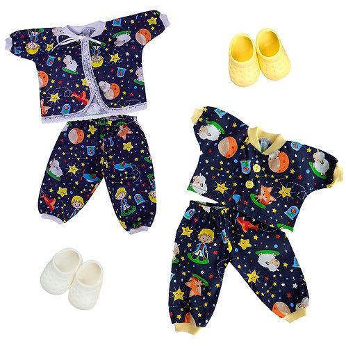 Kit de Luxo Adora Gêmeos Pijama