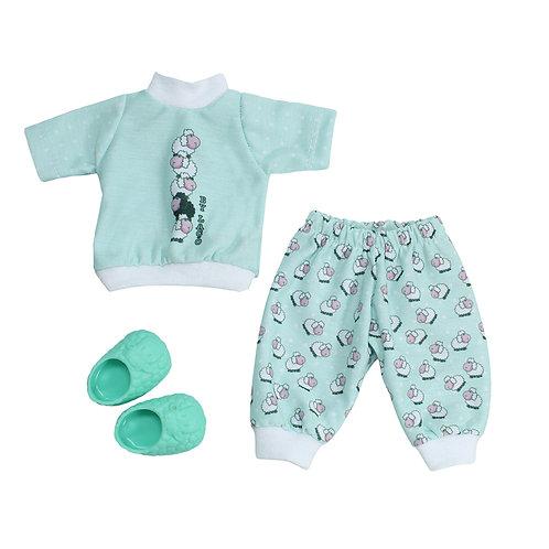 Kit Pijama Ovelhinha Verde