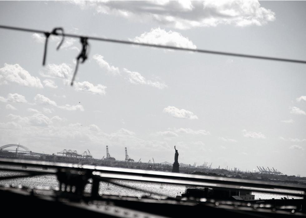 Lady Liberty, Brooklyn Bridge