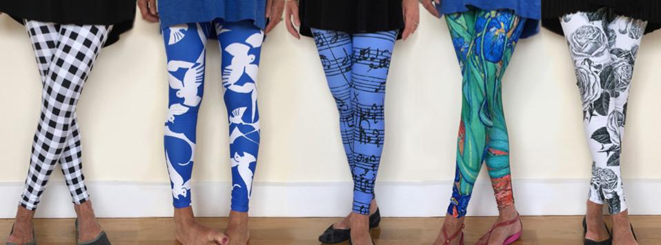 Rose and Gaia Art Leggings