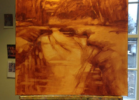 A Ditch in Concord - Painting from Photographs