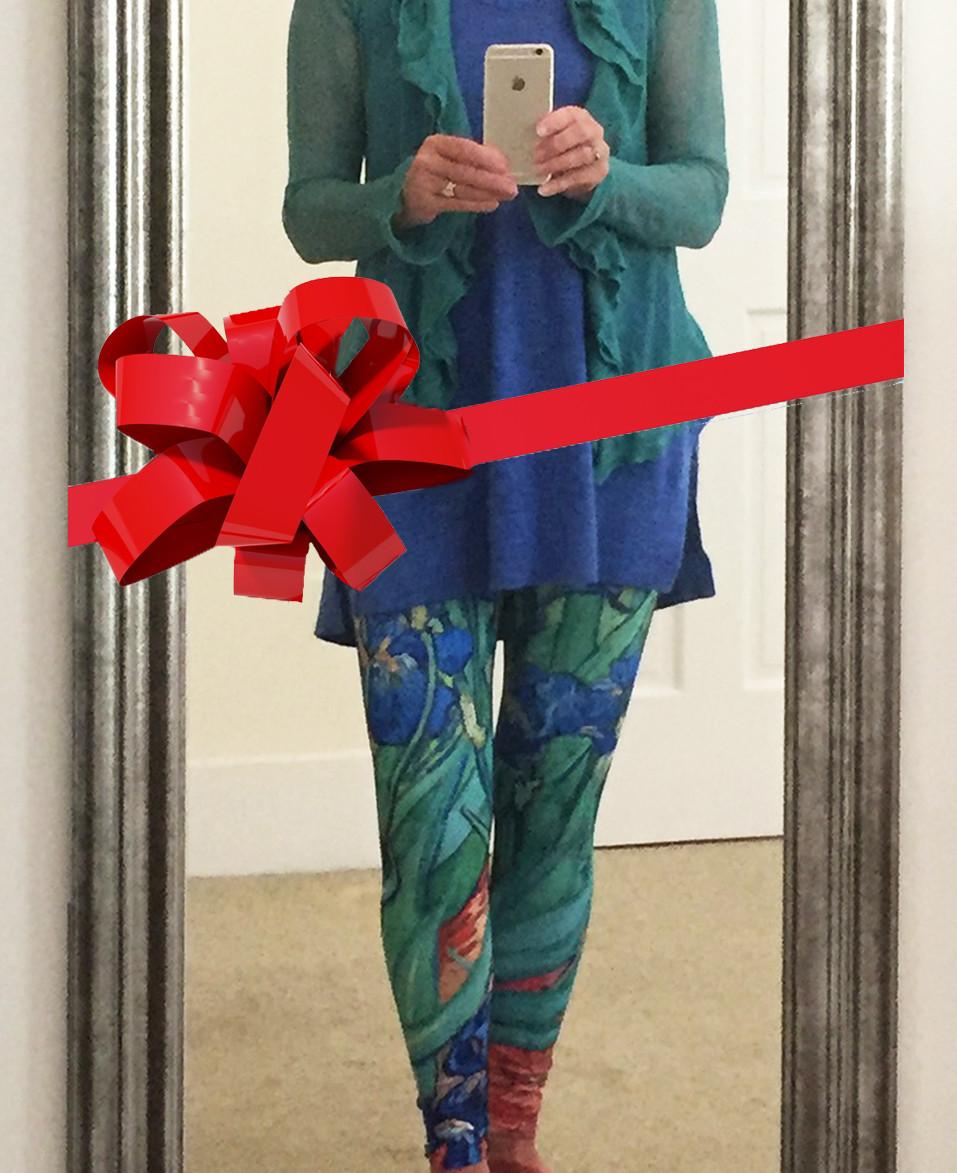 Womens leggings with art of van Gogh