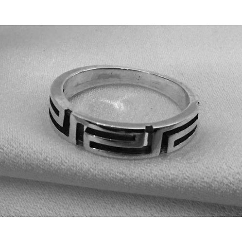 Greek key design ring
