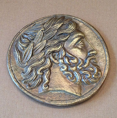 bronze Philip of Macedon coin paperweight