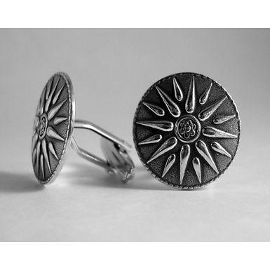 Macedonian sunburst cufflinks