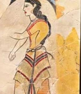 Minoan Lady of the West Wall fresco tile