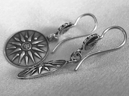Macedonian sunburst earrings