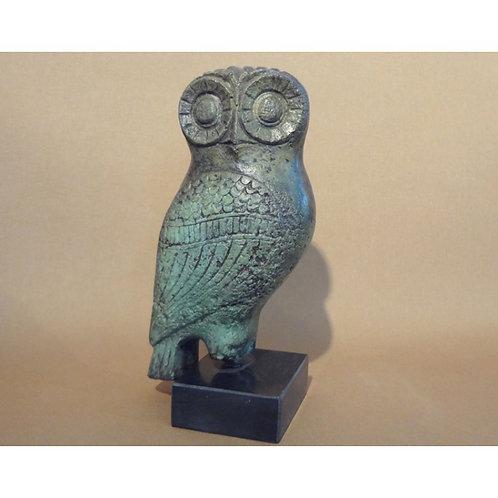 giant bronze pensive owl