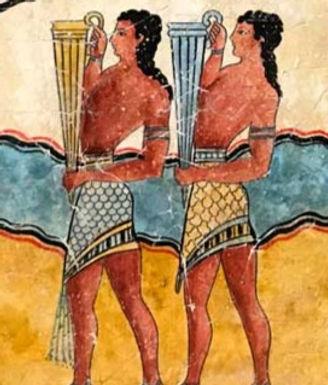 Minoan Procession Fresco - youths with rhyta (small)