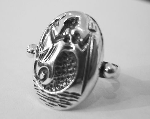 sea nymph and dolphin ring