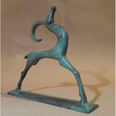 bronze proud ibex