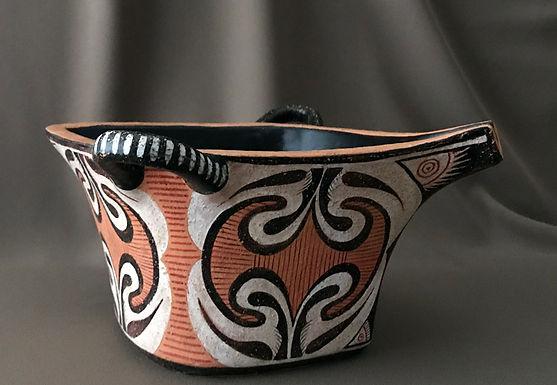 Minoan Kamares bowl with labrys motifs