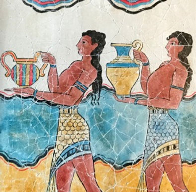 Minoan Procession Fresco - youths with oinochoai (large)