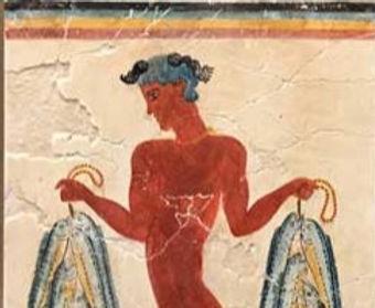 Minoan Fisher Boy fresco tile (medium)
