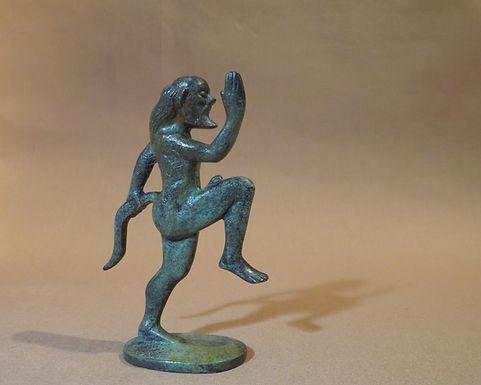 bronze small prancing satyr!