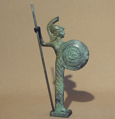 mini bronze Athena with spear