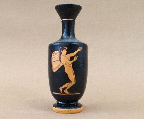 mini red-figure lekythos: Eros in flight