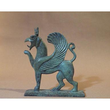 bronze prancing griffin