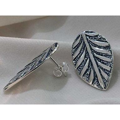 leaf earstuds