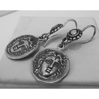 Helios Rhodes coin earrings