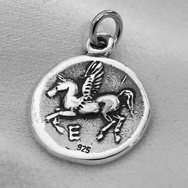 Aphrodite and Pegasus coin pendant (mini)