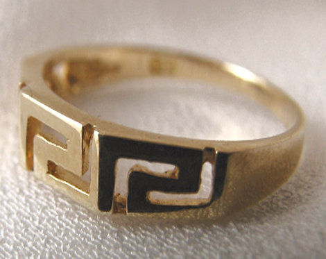 Greek key design ring (size 50/K/5.25)