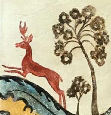 Minoan ibex fresco tile
