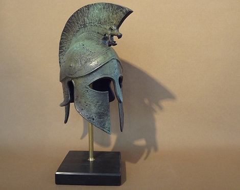 medium bronze helmet with griffin crest