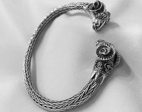 twin rams woven bracelet