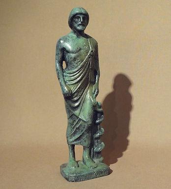bronze statue: Asklepios, god of medicine and healing