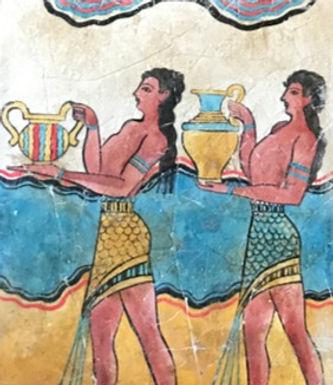 Minoan Procession Fresco - youths with oinochoai (small)