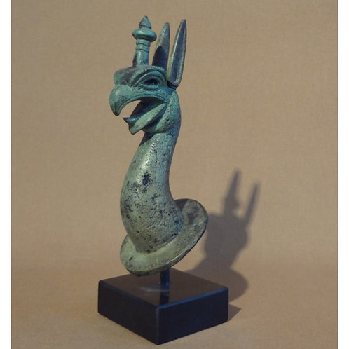 bronze griffin protome on a marble base (medium)