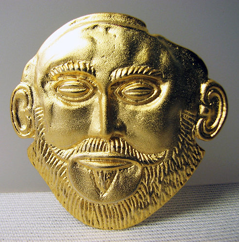 Agamemnon gold-plated brooch pendant