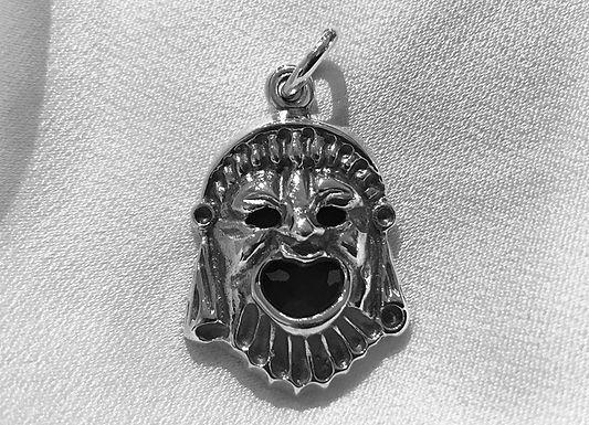 ancient Greek comedy mask pendant