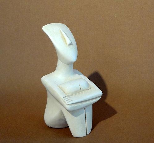 Cycladic contemplation figurine