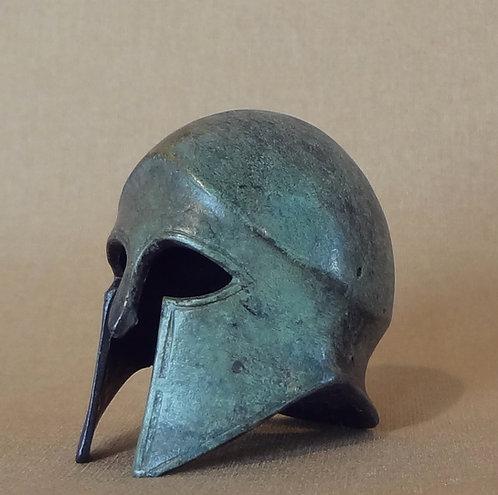 mini bronze helmet