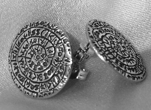 Phaistos Disc stud earrings