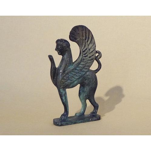 bronze poised sphinx